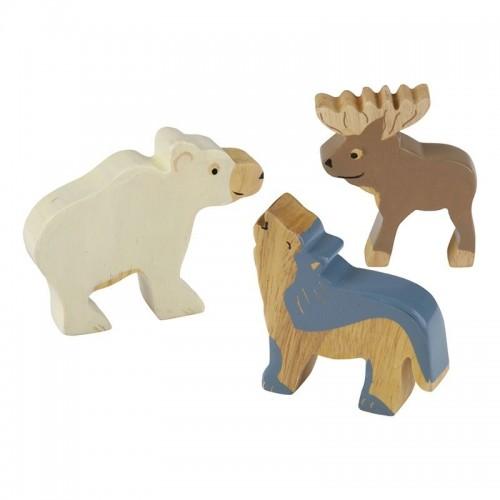 Öko Holztier-Set Arktis - Fairtrade-Kautschukholz » Hevea