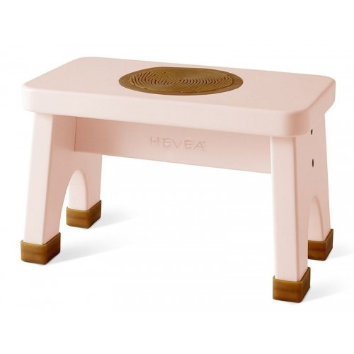Hevea Hocker Champagne Pink - Kautschukbaumholz Fairtrade
