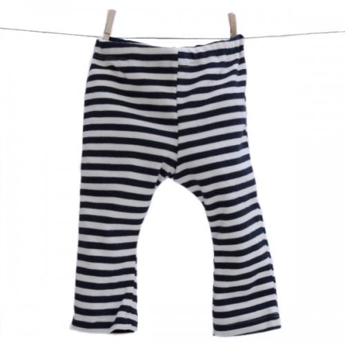 Baby Leggins Baumwolle Interlock marine-gestreift