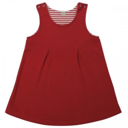 Rotes Kleid für Mädchen aus Bio-Baumwolle | Popolino iobio