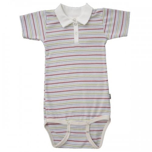 Baby Body mit Polokragen aus Bio-Baumwolle | Popolino iobio
