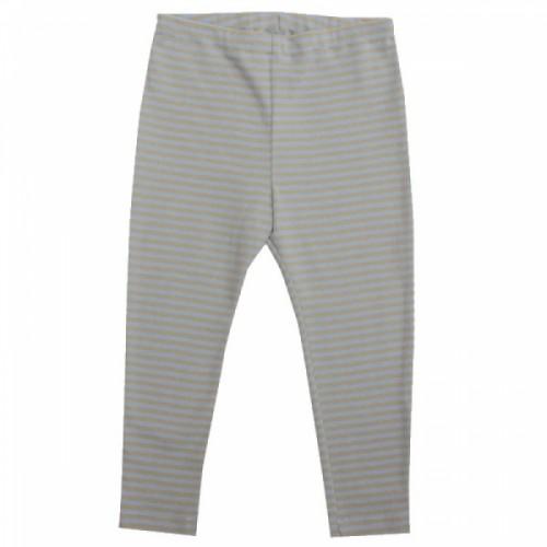 Lange Unterhose in blau-sand Bio-Baumwolle | Popolino iobio