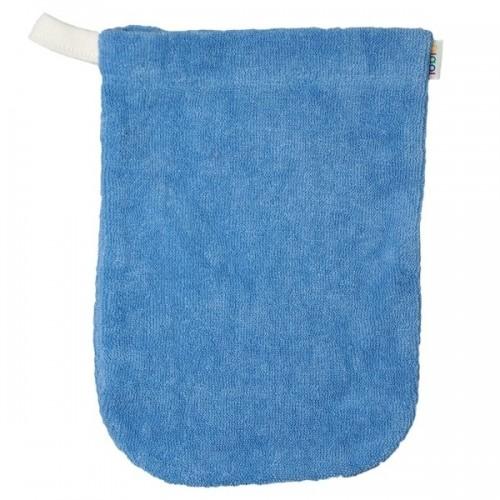 Baby Waschhandschuh aus Bio Baumwolle in Blau | iobio