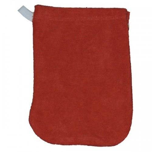 Baby Waschhandschuh aus roter Bio Baumwolle | Popolini