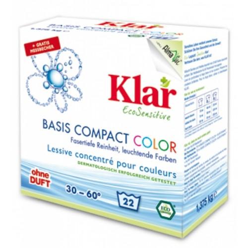 Bio vegan BASIS Compact Color Waschmittelpulver | Klar