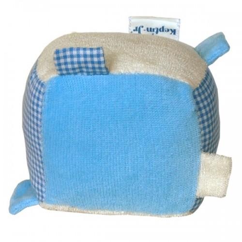 Blankiez Rassel Würfel Blau Öko Babyspielzeug | Keptin-Jr.
