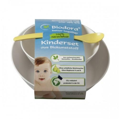Kinderset – Geschirrset 3teilig aus Biokunststoff