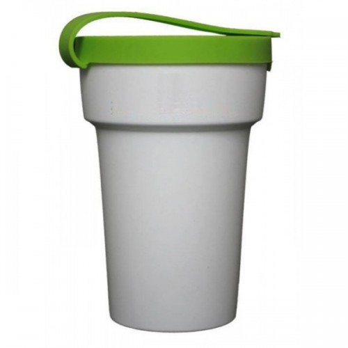 Mehrweg-Becher 300 ml mit Deckel in Grün | Nowaste