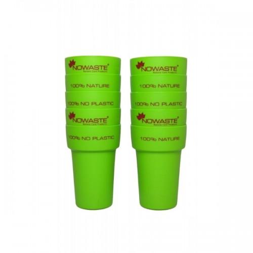 Bio Mehrweg-Becher 300 ml – grün – 10er Pack | Nowaste