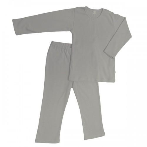 Blau gestreifter Bio-Baumwoll Kinder Schlafanzug | iobio