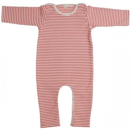 Roter Öko Baby Overall ohne Fuß aus Bio-Baumwolle | iobio