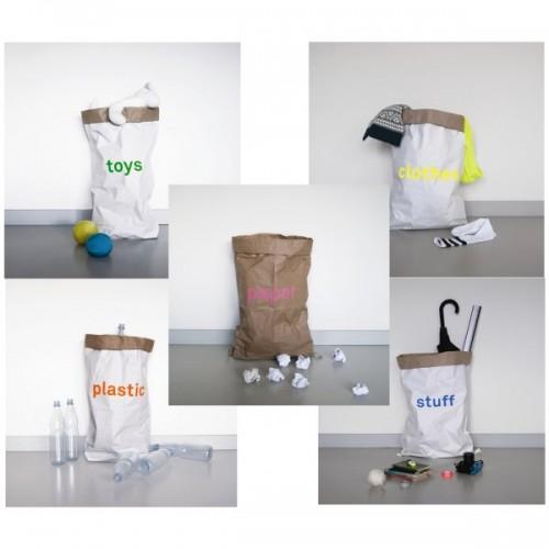 Öko Papiersack mit Aufdruck aus Recycling Papier | kolor