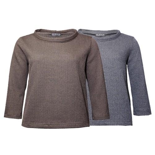 Bio Baumwoll-Pullover im Stil der 60er, Strickoptik | billbillundbill