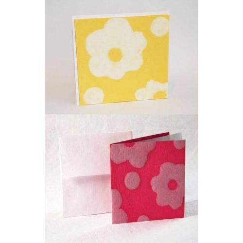 Grußkarte FLOWER mit Umschlag – Öko-Papier