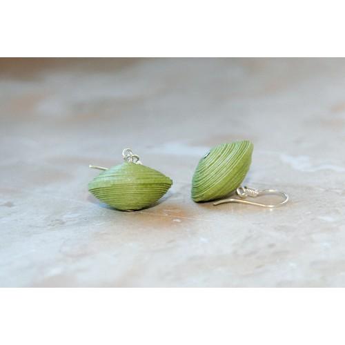 Grüne Papier-Ohrringe I Öko & Fair