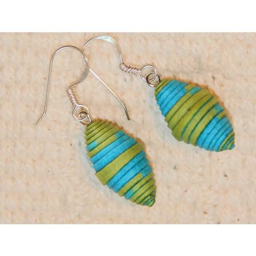 Fair Trade Ohrringe Frischekick aus Öko Papier | Sundara Paper Art