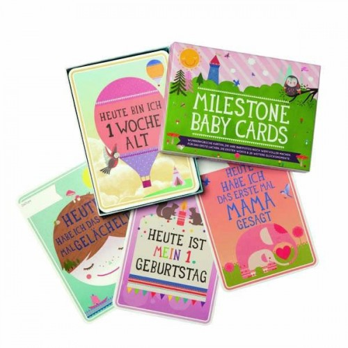 Milestone Baby Cards Deutsch