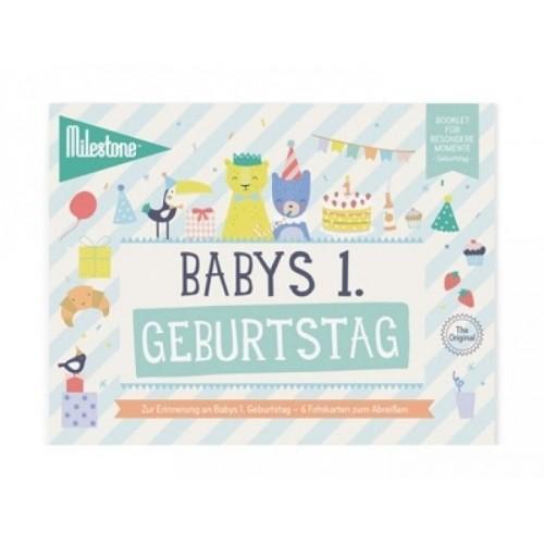 Babys Erster Geburtstag Booklet Deutsch | Milestone