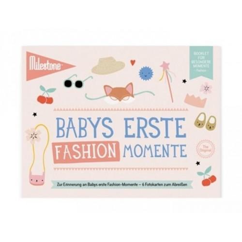 Babys Erste Fashion Momente Booklet | Milestone