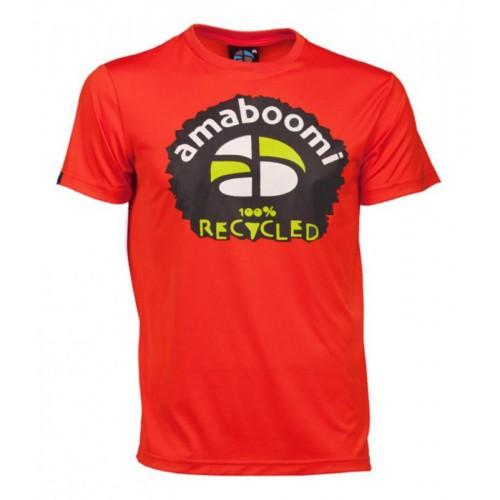 Herren T-Shirt MERAPI 100% recycled – Magma Rot