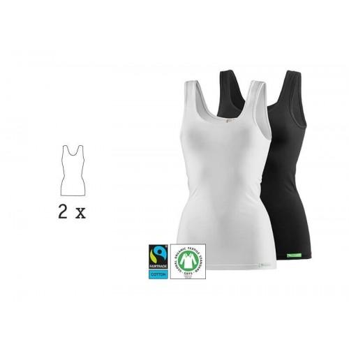 Bio Trägertop & Unterhemd LadyCover, 2 Stück | kleiderhelden