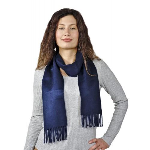 Premium 100% Baby Alpaka Schal Moskau, Uni, One Size, Unisex Schal, Dunkelblau