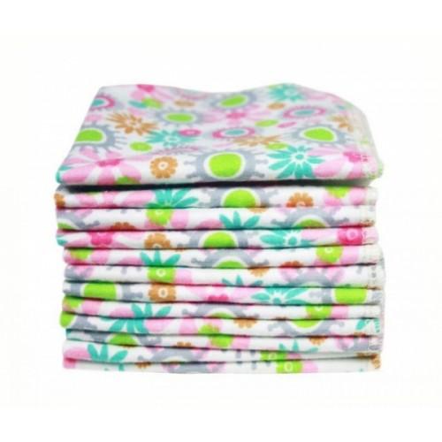 Baby Waschlappen Bio-Baumwolle 12er Set Blumen | ImseVimse