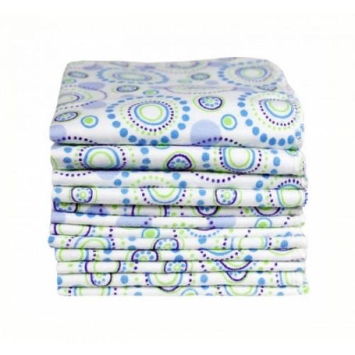 12 Baby Waschlappen Bio-Baumwolle - Orbit | ImseVimse