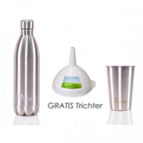 Edelstahl Flasche & Becher und Trichter