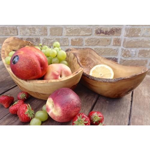 Olivenholz Obstschale oval & rustikal | Olivenholz erleben