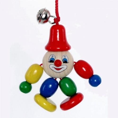 Holz-Clipmännchen Clowny: Greifling ungiftige Farben | ASMi