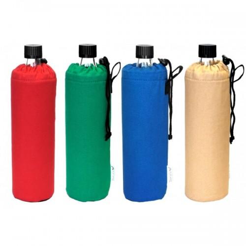 Glasflasche mit Baumwoll-Filzüberzug 0,5 L