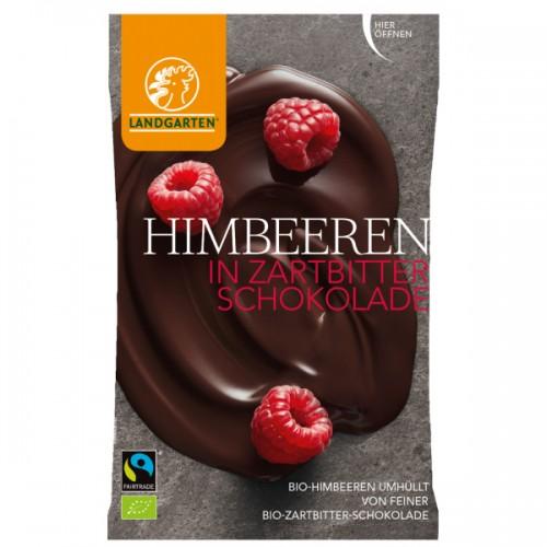 Himbeeren in Zartbitterschokolade