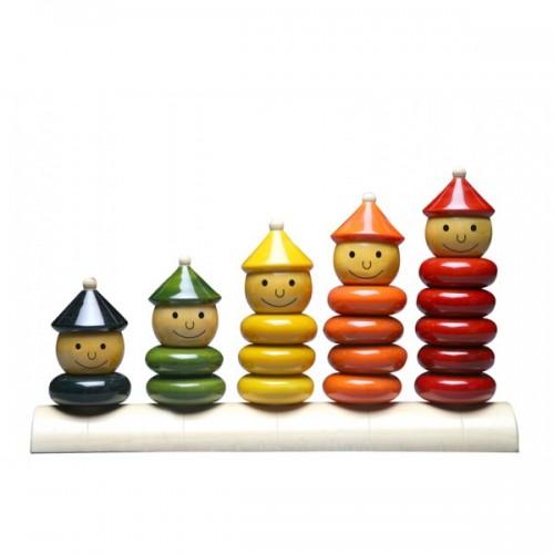 Peppy Five Öko Holzspielzeug - Lernspielzeug | Maya Organic