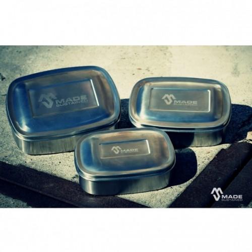 Made Sustained Lunchbox aus Edelstahl – 3er Set