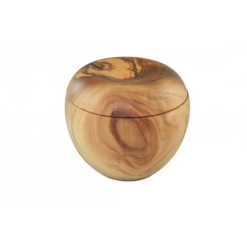 Utensiliendose aus Olivenholz mit Deckel | Olivenholz erleben