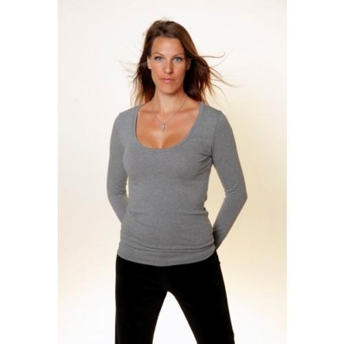 Damen Basic Langarmshirt - Bio-Baumwolle | bill bill & bill