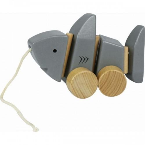 EverEarth Nachziehspielzeug Hai - Öko Holzspielzeug