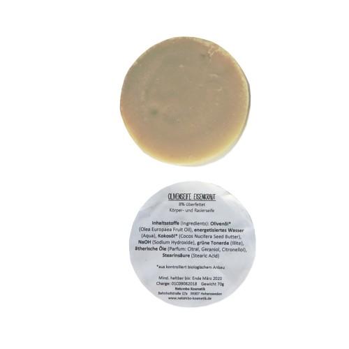 Bio Rasierseife Eisenkraut - Olivenölseife | Olivenholz erleben