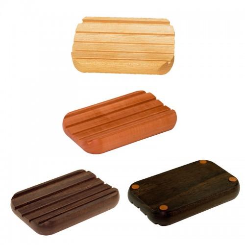 Seifenunterlage, gerundete Form – verschiedene Holzsorten