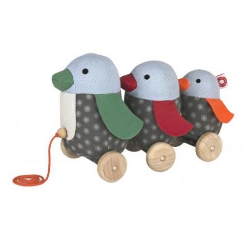 Nachziehspielzeug Pinguin Georg aus Bio-Baumwolle