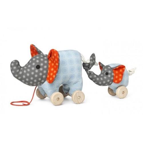 Nachziehspielzeug Elefant Noma aus Bio-Baumwolle