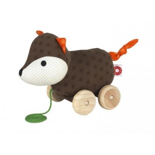 Nachziehspielzeug Fuchs Ejner aus Bio-Baumwolle