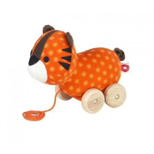 Nachziehspielzeug Tiger Thomas aus Bio-Baumwolle