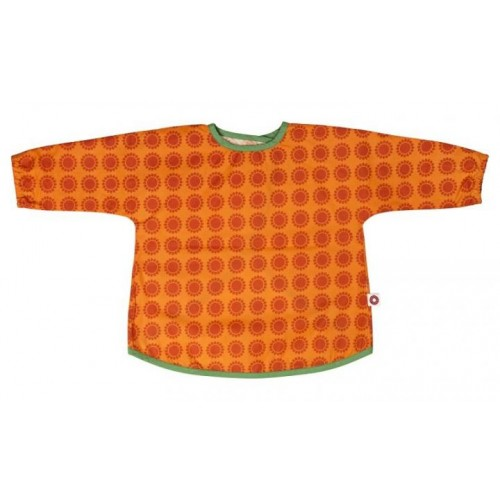 Ärmellätzchen Orange – Bio-Baumwolle + Klettverschluss
