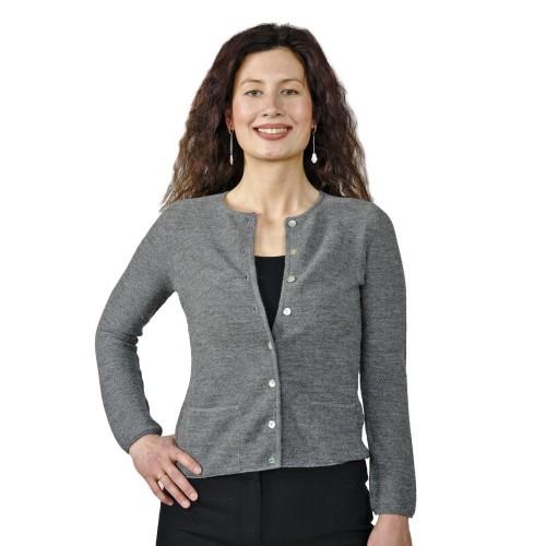 Feine Strickjacke Lisa - Damen Cardigan 100% Alpaka | AlpacaOne