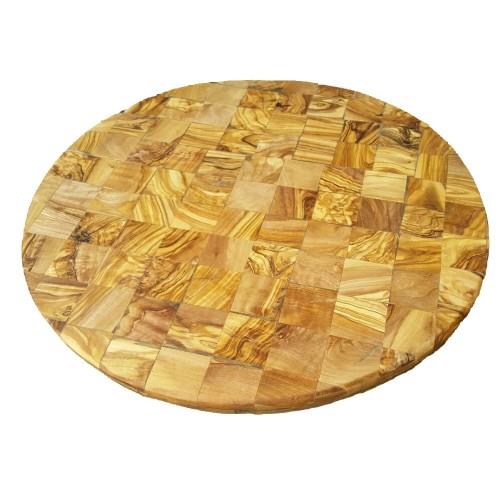 Einzigartiger Pizzateller aus Olivenholz Öko Servierplatte | D.O.M.