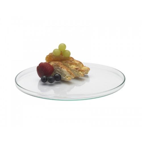 Glas Kuchenplatte + Servierteller Ø 28cm