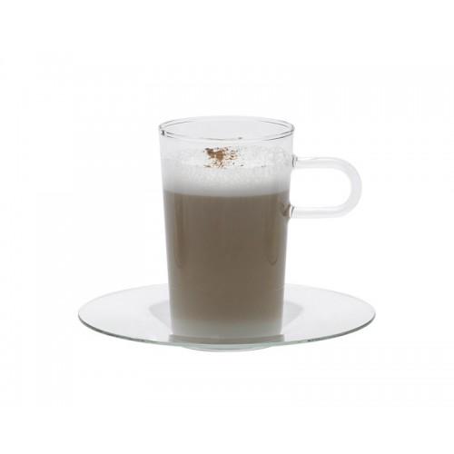 Kaffeeglas mit Glasunterteller COSTA II