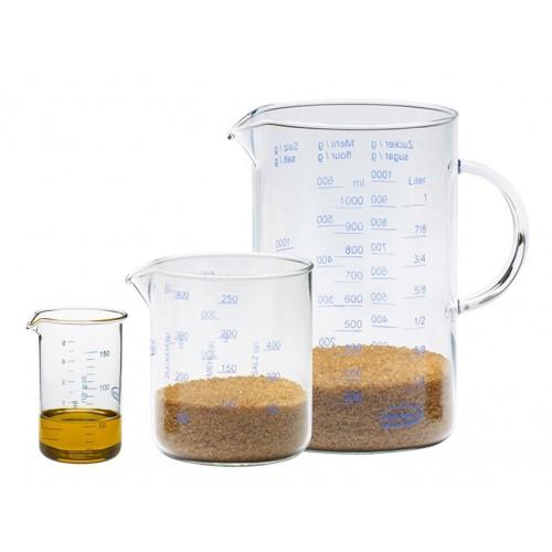 Glas Messbecher 0,15 L | 0,5 L | 1,0 L